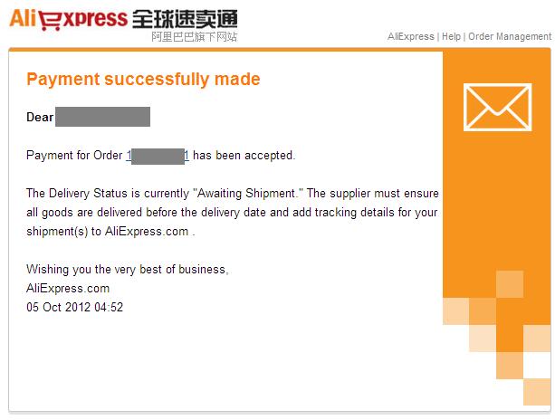 Оплата прошла успешно aliexpress payment successfully made