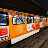 AliExpress в метро Мадрида Испания