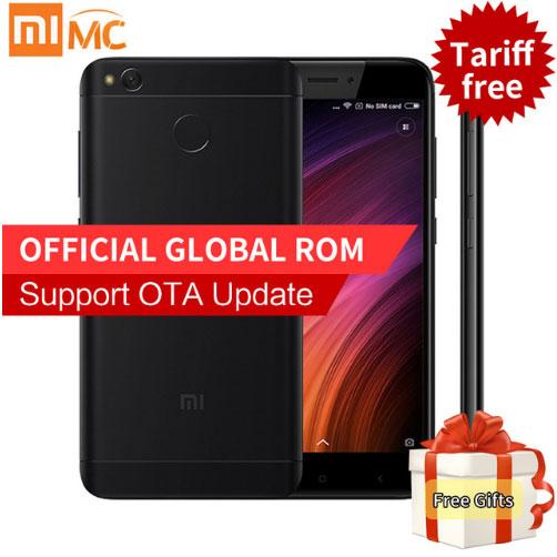 """Глобальная версия Оригинальный Xiaomi Redmi 4X 3GB 32GB Smartphone Snapdragon 435 Octa Core 5.0 """"Дисплей 4G FDD LTE 4100mAh Отпечаток пальца"""
