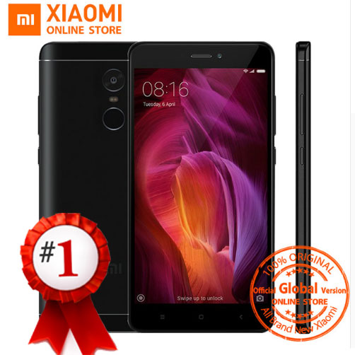 "Глобальная версия Xiaomi Redmi Note 4 смартфон 3 ГБ 32 ГБ Snapdragon 625 Octa Core 5.5 ""1080 P 13.0MP FCC CE 4100 мАч MIUI 8.5"
