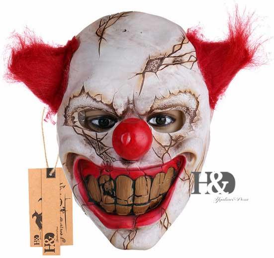 Страшная маска страшного клоуна Scary Clown Latex Mask