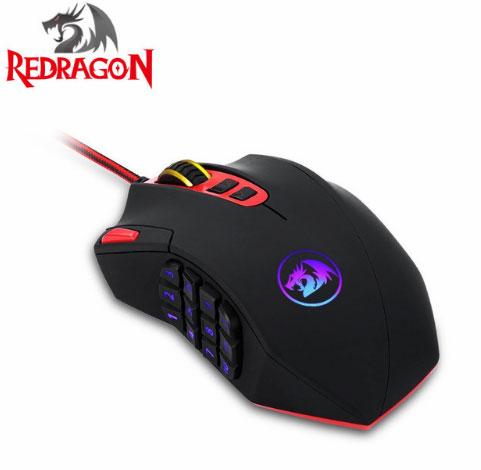 Профессиональный REDRAGON 16400 точек/дюйм регулируемая hv-ms691 18 программируемыми клавишами эргономичная мышь мыши идеально подходит для геймер