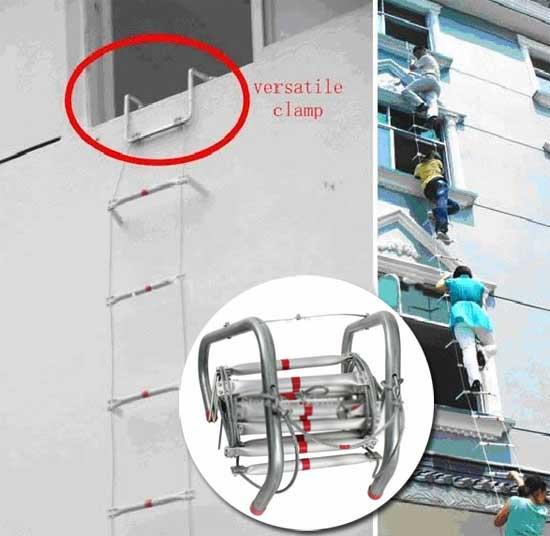 Складная металлическая противопожарная лестница