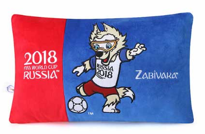 Сувенирная подушка с изображением волчонка Забиваки Фифа