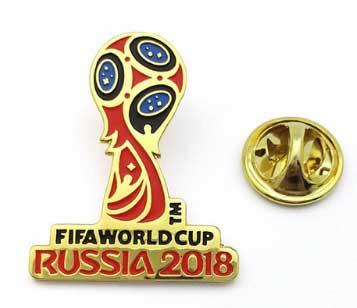 Металлический значок футбол 2018