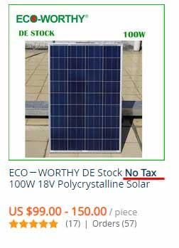 no tax aliexpress