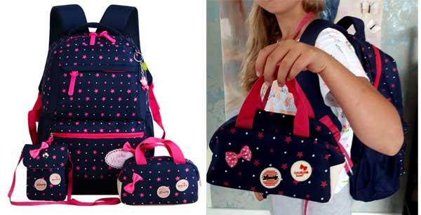 Школьный водонепроницаемый рюкзак для девочек