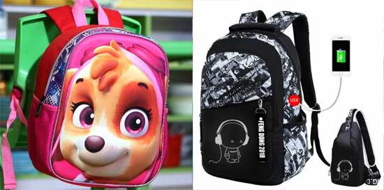 Ранец и школьный рюкзак