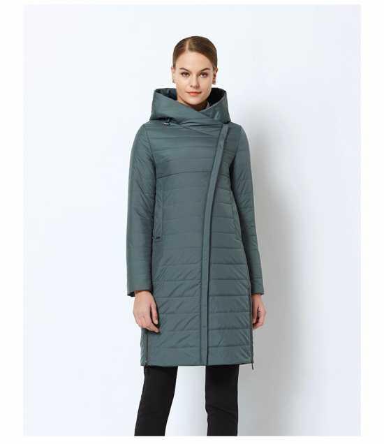 Демисезонное пальто с ассиметричной застежкой купить на Алiекспресс