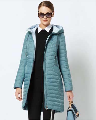 куртка женская теплая с капюшоном