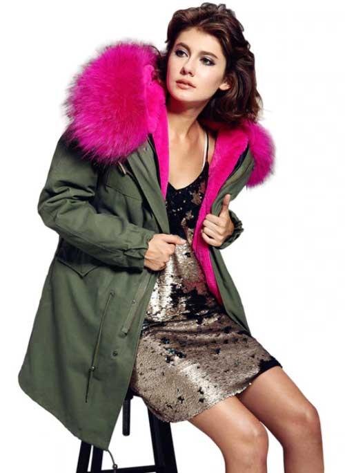 Женская зимняя куртка с натуральным мехом купить