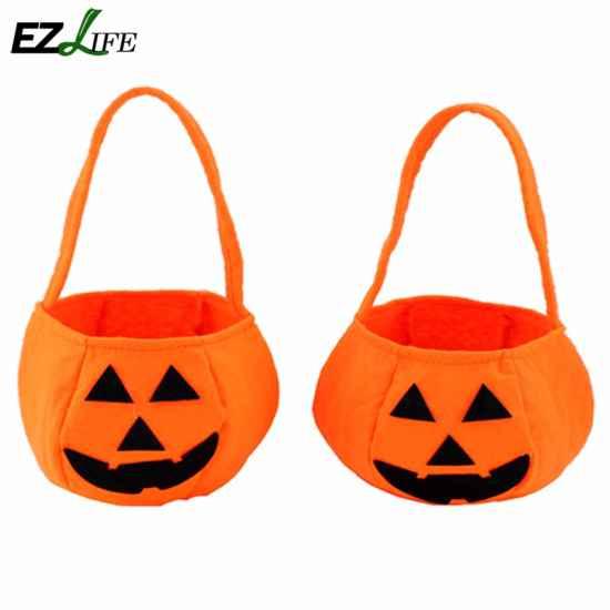 Сумочка-тыква для конфет на Хеллоуин