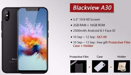 Смартфон Blackview A30 купить в Китае телефон без растаможки
