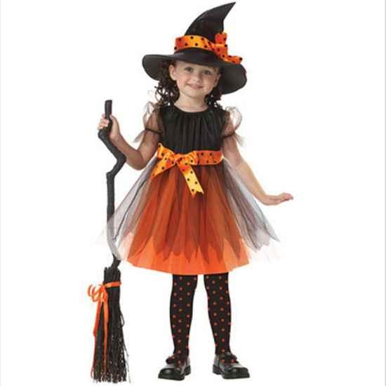 Костюм ведьмочки для девочек Хеллоуин Идеи для праздника Хэллоуин 2018