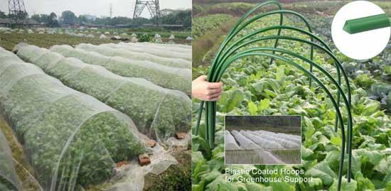 Защита молодых растений от птиц. защита урожая стойки и сетки