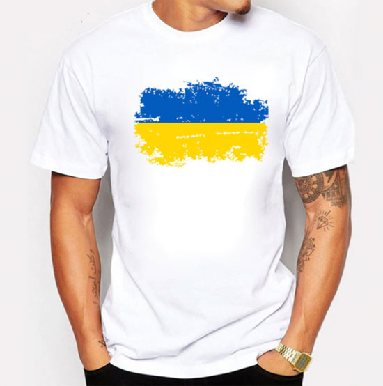 Футболка с украинской символикой, флаг Украины купить Алиэкспресс