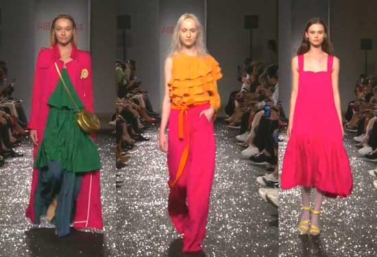 Коллекция Алиэкспресс на показе моды в Италии Милан
