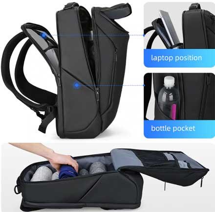 Мужской рюкзак гаджеты, ноутбук, защита от воров, водонепроницаемый