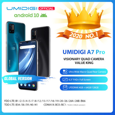 UMIDIGI A7 Pro купить на Алиэкспресс
