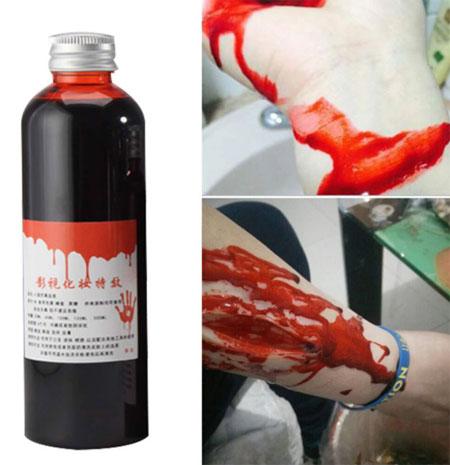 Поддельная кровь на Хэллоуин