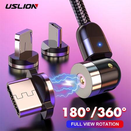 Магнитный usb-кабель USLION Type-C для быстрой зарядки купить на Алиэкспресс