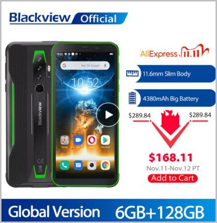 Смартфон BLACKVIEW BV6300 Pro Helio P70, 6 + 2020 ГБ, 128 мАч, Android 4380